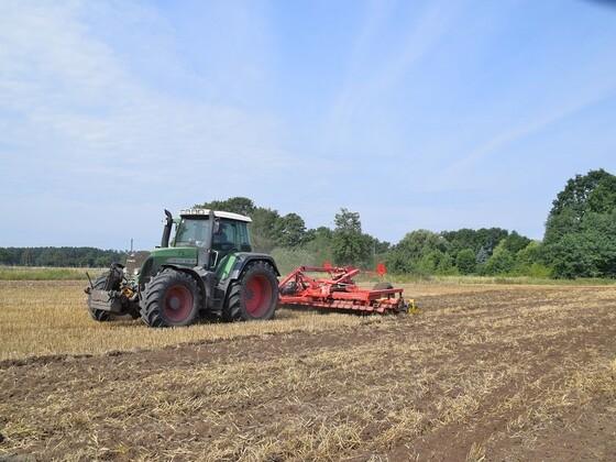 Saatbeet Vorbereitungen nach der Gerstenernte