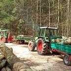 Farmer 102S und 309LSA beim Holz fahren