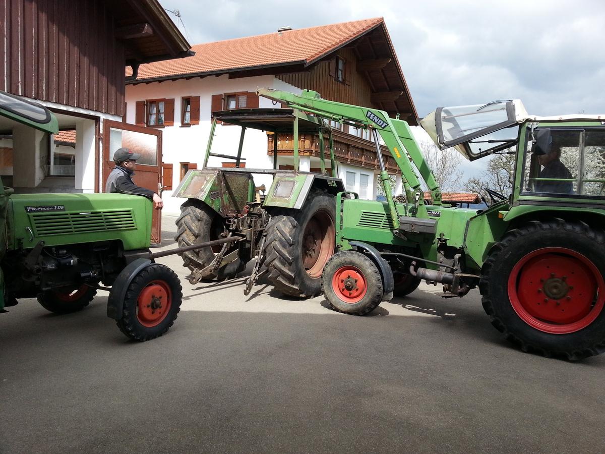 Kabine aufsetzen Fendt Farmer 108s