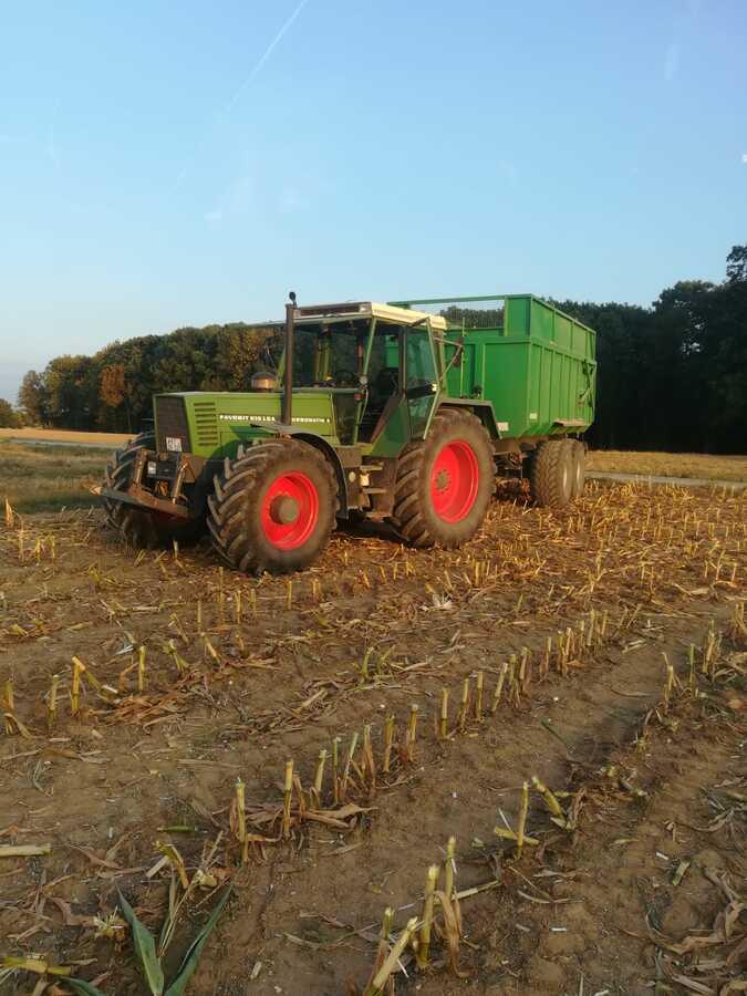 Fendt 615 LSA Turbomatik E beim Maishäckseln 2018