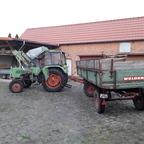 Farmer 102s fw135,  mit Welger NK 90