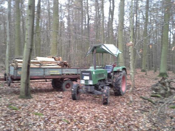 Farmer 2 S beim spalten im Wald