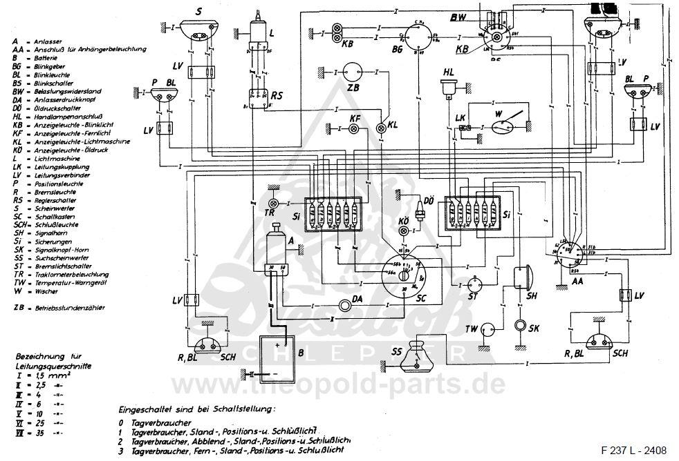 Schaltplan Fendt Fix 1 Bj 1960 - Elektrik/Anzeigeinstrumente ...