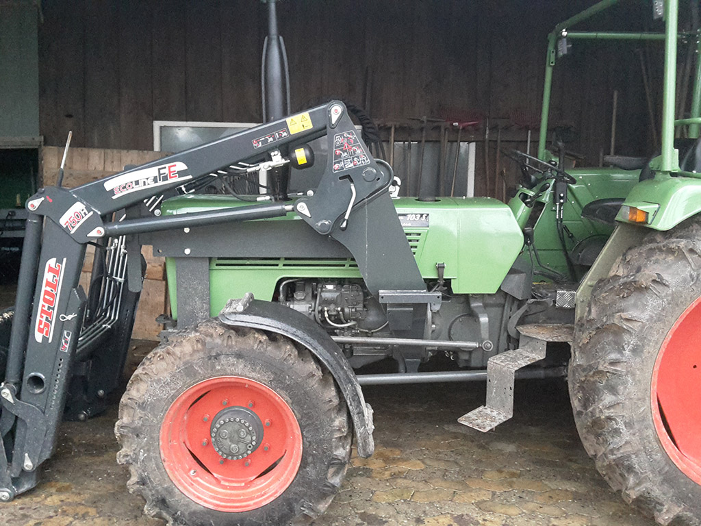 Stoll konsolen fendt farmer 103sa frontlader anbaukonsolen geräte
